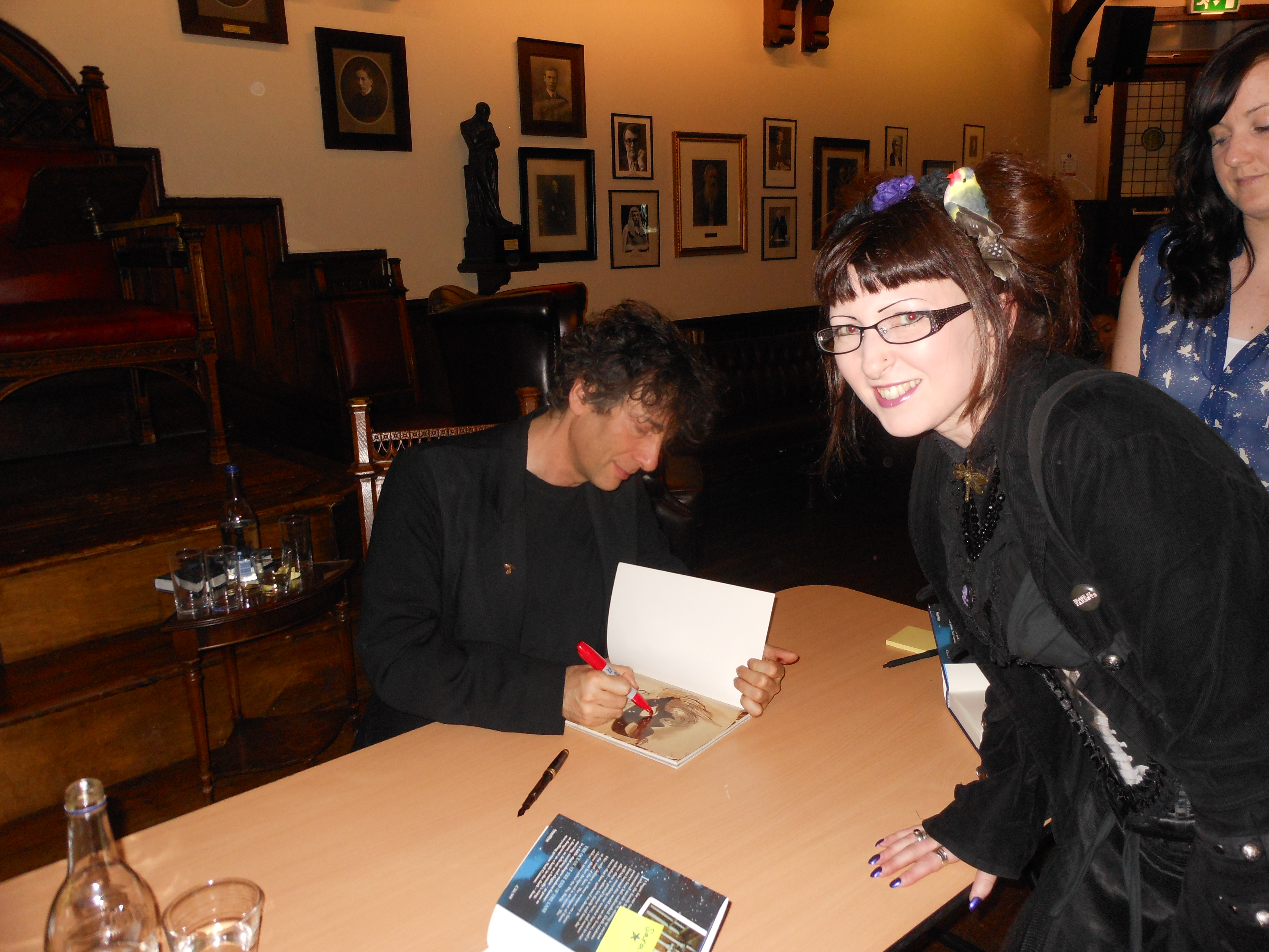 Me meeting Neil Gaiman at the Cambridge Union Society on Saturday 17th June 2013